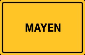 Mayen Ortsschild